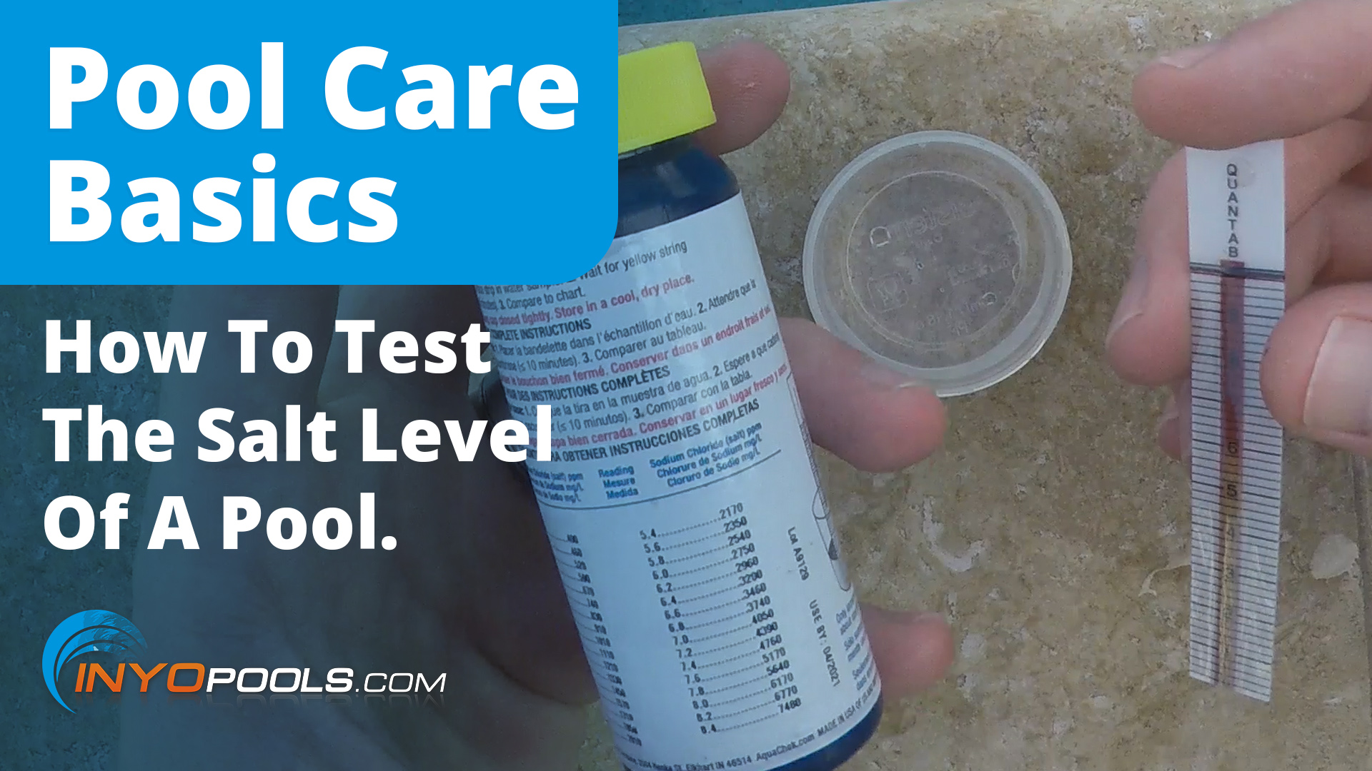 Test The Salt Level Of A Pool