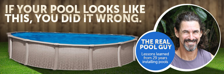 how do I prevent above ground pool from becoming misshapen?