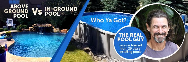 Above ground pool vs an inground pool
