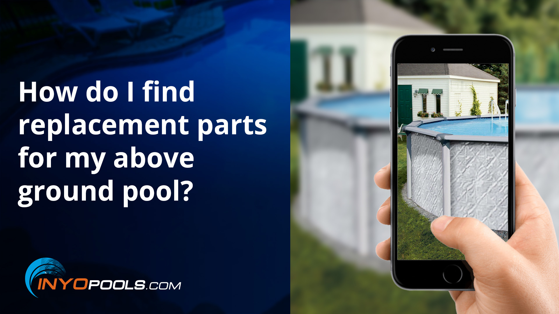 How do I find replacement parts for my above ground pool?